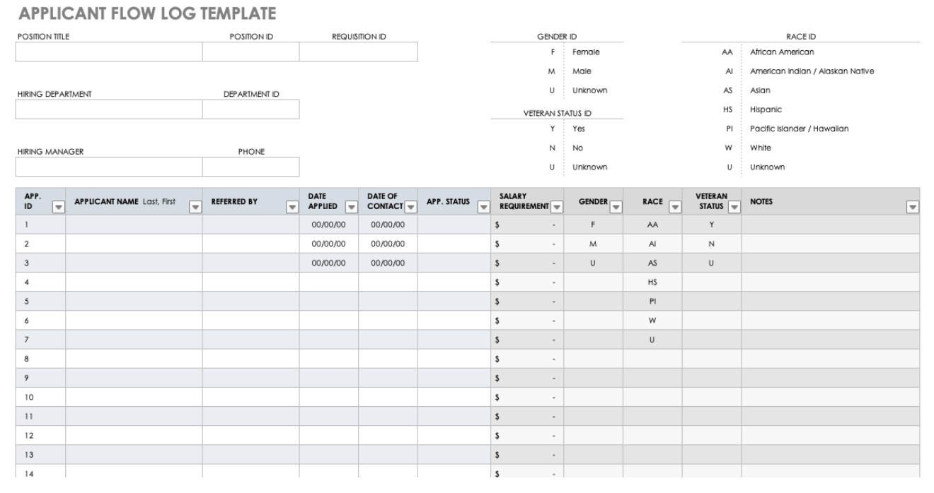 Applicant Flow template